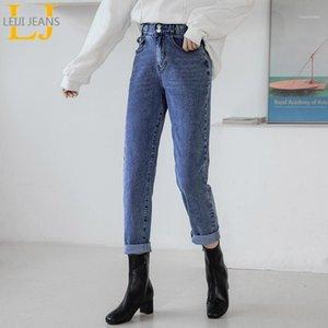 Leijijeans Mode Plus Size Freund Frauen Jeans Capri Weiß Polierter Damen Casual Soft Harem1