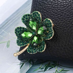 Four Leaf full diamond alloy hot new Brooch clover accessories