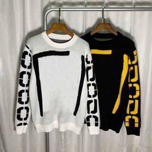 2021SS Весна и лето Новый высококачественный хлопчатобумажный печать с коротким рукавом круглые шеи панель футболки Размер: M-L-XL-XXL-XXXL Цвет: черный белый 2VCF4