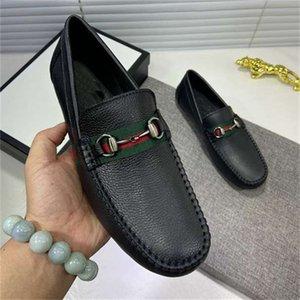 [AVEC BOX] Designer Hommes Casual Chaussures Casual Casual Authentique Cowhide Metal Boucle En Cuir Chaussure Mules Princetown Les hommes piétivent des chaussures de robe paresseuse 0A02