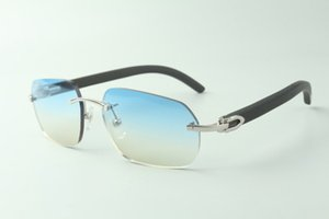 Direct sales designer sunglasses 3524024, black wooden temples glasses, size: 18-135 mm