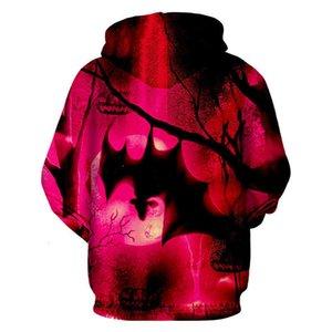 Trainingsanzüge Herren Frühling und Herbst Halloween Nacht Bat Pullover Mode Sportswear Casual Hoodie