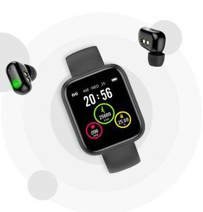 Smart Watch Earphones 2 in 1 TW Ear Phone Bracelet Waterproof Sports Cell Can Call Mobile headset wireless Bluetooth connection