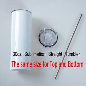 Blanks 30oz Sublimaton Tumbler Big Capacità Portable Creative Water Thermos tazze per bottom di viaggio con paglia con coperchio