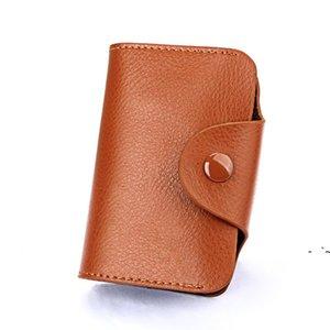 تصميم بسيط للجنسين أكياس بطاقة الأعمال العضوية حامل جلد طبيعي البنك كود موضة hsp محفظة عملة محفظة السكر اللون OWE5839
