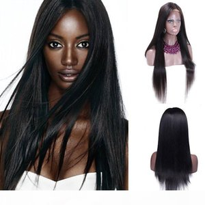 Brazilian Virgin No Tail Yarn Wig Is Full Of My Shoes And Higher Black Women On The Basis Of Human Hair Silky Straight Silk Weaving A Wigs
