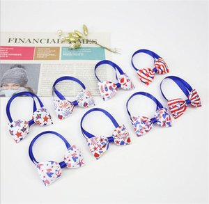 Independence Day Dog Collars Pets Cat Puppy Adjustable Pet bow tie 4th of July Small Dogs Decorative Supplies DB683