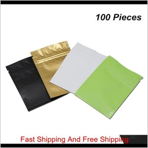 Multisize Matte Resealable Mylar Zipper Packaging Bags Closure Aluminum Food Storage Pouch Foil Baggies For Coffee Kwh6 Nwbj2