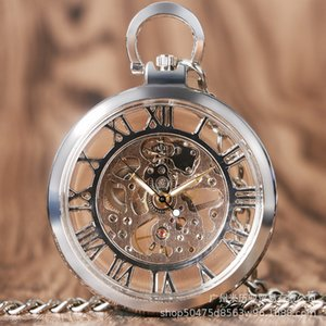 Watch creative transparent skeleton design Roman literal Mechanical Pocket Watch0R8L
