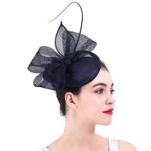 Vintage Navy Fascinatoren Hüte für Kentucky Derby Party Gelegenheit Haarspangen Kirche Ankunft oder Hochzeitszubehör