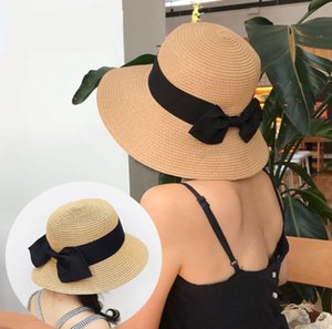 Family Matching Summer Hats Big Bow Bohemia Mom And Me Straw Foldable Hat For Kids Women Girl Star Sun Caps Beach Accessories