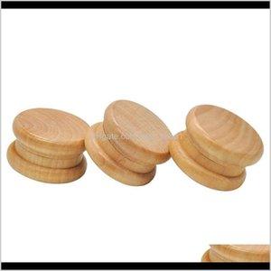 Otros accesorios para fumar creativos al por mayor 2 capas portátiles 55 mm molinillos de madera tobacco amoladora DH0754 T03 BROGZ M3roZ