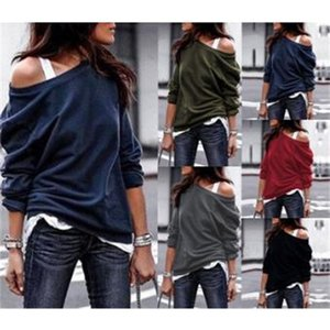 2021 new 5-color spring autumn fashion round neck long sleeve women's top and sweater