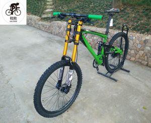 Kalosse 27 Hız 26er Alüminyum Alaşım Çerçeve DH Yokuş Aşağı Bisiklet 26 * 17 inç Bicicleta Dağ Bisiklet Bisikletleri