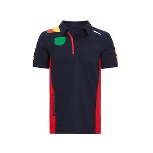 T-shirt de course de course à manches courtes F1, uniforme de moto de moto de montagne, sèche-vélo et t-shirt courte respirant Personnalisé Polo Shirt Verso Jersey Cyclisme
