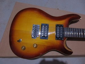 shipping Top Quality Flame Maple Veneer Top Custom 24 Jazz Electric Guitar In Stock