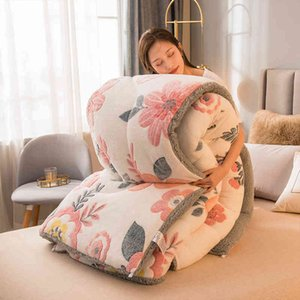 Lamb double-faced velvet wool quilt Duvet 2 3 4 5 kg winter thicken blanket core extra warm And Soft double king comforter