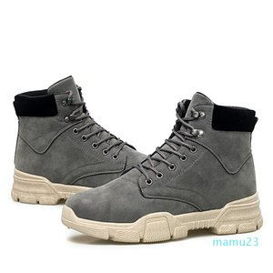Big Size Winter Men's Boots Male Waterproof Ankle Boots Autumn Man Warm Lace Up Boots 5#22 20D50