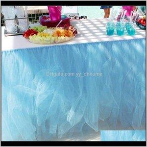 80X100Cm Party Wedding Table Tulle Skirt Banquet Partys Celebration Event Home Desk Decor Sfnsr Azenu