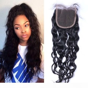 Mongolian Water Wave Lace Closure with Baby Hair Virgin Human Hair Closures Swiss Lace 8-20 inch
