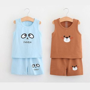 Baby vest suit children's sleeveless T-shirt shorts summer clothes boys and girls 6 months 1 year 3 children