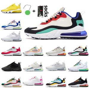 Right Violet Men Womens 270s React Running Shoes High Quality Mens Sneakers Trainers Light Arctic Pink University Red Yellow Black White Bauhaus Blue