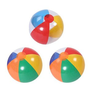 3Pcs Inflatable Beach Ball Pool Summer Water Toy Interactive Toys (Random Color)