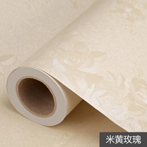Wallpapers Pearl White DIY Decorative Film PVC Self Adhesive Wall Paper Furniture Renovation Stickers Kitchen Cabinet Waterproof Wallpaper