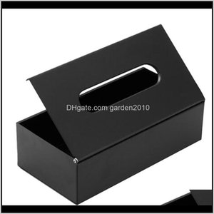 Boxes Napkins Table Decoration Accessories Kitchen, Dining Bar Home & Garden Drop Delivery 2021 Stainless Steel Facial Tissue Box Desktop Bat