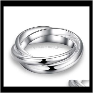 Drop Delivery 2021 Sier Band Ring Finger Rings For Women Girl Party Fashion Jewelry Wholesale 0446Wh Xnlht