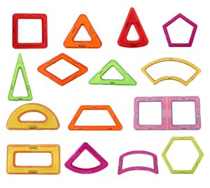 Mini Magnetic Building Blocks Pieces Triangle Square Hexagon Shape Magnet Bricks Wholesale DIY Model Toys Gifts for Children