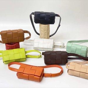 Outlet waist women's chest fashion trend cow leather woven single slanting pillow bag designerss bag yw venetas bottega