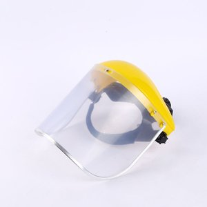 Head Mounted Face Shield Transparent PC PVC Plastic Adjustable Protection Hats Unisex Antifogging Safety Protect Masks Anti Impact 11dt E19