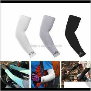 Protective Textiles Home Garden Drop Delivery 2021 8 Colors Cooling Cover Uv Sun Protection Outdoor Sports Riding Cycling Arm Sleeves Zza2322