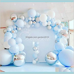 Other Event & Party Supplies Festive Home Garden 141Pcs Blue Silver Macaron Metal Balloon Garland Arch Foil Balons Weding Baby Shower