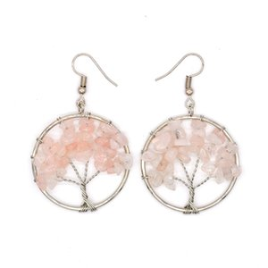 Wishing Tree Crystal Hoop Earrings Crushed Stone Multi Color Lady Earring Alloy Colorful Eardrop Jewelry Accessories Round 5 9hx P2
