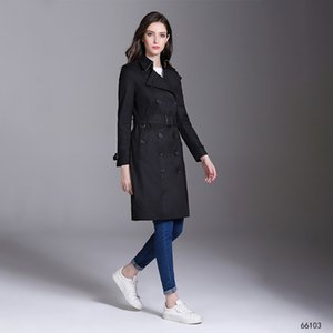 2020 New Spring Autumn Clothing Lady Long Windbreak Double Breasted Slim Women Trench Coat with Belt Winter Outwear