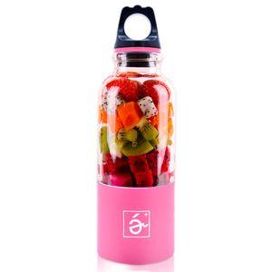500ml Portable Blender Juicer Cup Mini USB Rechargeable Juicer Blender Maker Shaker Squeezers Fruit Orange Juice Extractor GWE9781