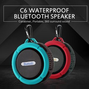 Waterproof mini Bluetooth 5.0 Wireless Speakers C6 Speaker With 5W Strong Deiver Long Battery Life With Mic pc phone bass
