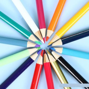 4EZT Case CaseCil Kutusu Çocuk Çizim Öğrenci Kalem Seti 12 Boyama Kalemler 18 24 36 Renk Yağ Renkli Kalem