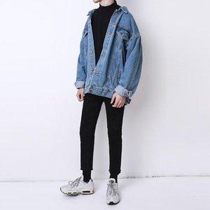 Fashion 2021 Autumn And Winter Korean Oversize Denim Jacket Male Retro Coat Men Women Clothing Men's Jackets