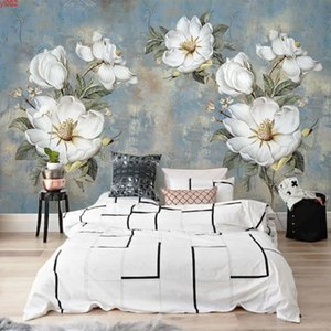 Custom Wall Paper Murals Vintage Abstract Oil Painting Flowers Large Mural Bedroom Living Room Decoration Wallpapers Home Decor