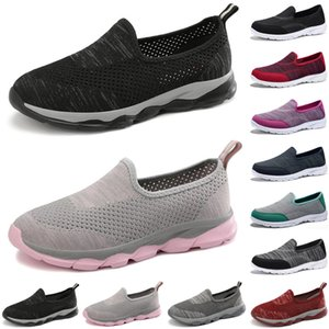 newest luxury women casual shoes Black red gray green loafers flat slip on Breathable mens trainers sneakers size 35-42