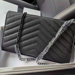 Woman bag Original Box Genuine Leather caviar fashion clutch lady shoulder bags cowhide handbag presbyopic card holder