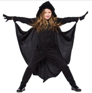 Cosplay Halloween costume novelty gift children's performance clothing jumpsuit animal bat modeling Christmas stage Body height:140-150cm
