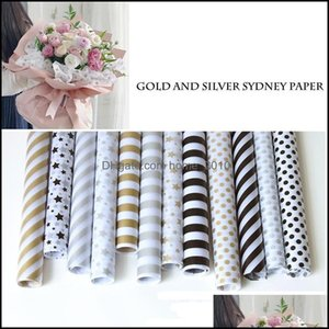 Packaging Office School Business & Industrial20Pcs Gold Print Packing Craft Tissue Paper Wedding Gift Birthday Party Supplies Home Decoratio