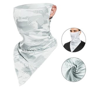 Cycling Scarf Cooling Bandana Face Cover with Ear Loops Outdoor Anti-dust Sun Protection Sports Scarf Balaclava Cycling