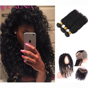 360 Lace Frontal with Bundle Malaysian Curly Hair with Closure Kinky Curly Frontal with Bundles Human Hair And Frontal Closure