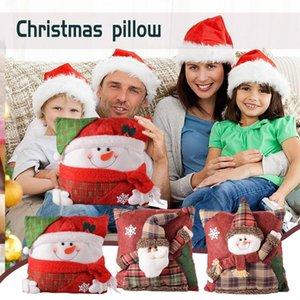 Pillow -selling 2022 Christmas Pillows, Festive Scene Decorations, Santa Claus Three-dimensional Pillows,Elk Doll Sofa Cushions