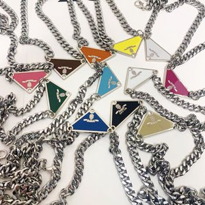 2021 luxurys Sale Pendant Necklaces Fashion for Man Woman 48cm Inverted triangle designers brand Jewelry mens womens Highly Quality 19 Model Optional with box